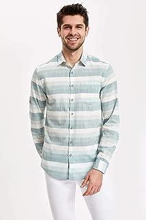 DeFacto Katlanabilir Kollu Slim Fit Gömlek