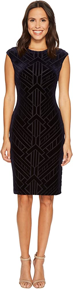 Vince Camuto - Velvet Burnout Bodycon Dress