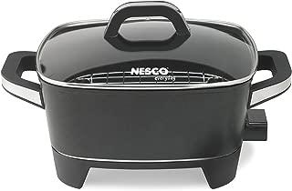 NESCO ES-12, Extra Deep Electric Skillet, Black, 12 inch, 1500 watts