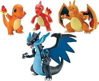 TOMY Pokémon Trainer's Choice 4 Figure Gift Pack, Charmander, Charmeleon, Charizard and Mega Charizard X