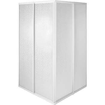 tectake 800522 Mampara de Ducha para Cabina | Marco de Aluminio Inoxidable | 2 Puertas Correderas de Plástico - varias Tamaños (90x90x185cm | No. 402753): Amazon.es: Bricolaje y herramientas