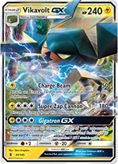 Pokemon Vikavolt-GX - 45/145 - Ultra Rare - Sun & Moon: Guardians Rising
