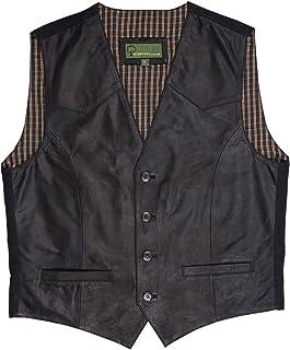 HIDEPARK 004: Men's Black Leather Waistcoat