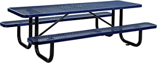 8' Rectangular Picnic Table, Surface Mount, Blue (96