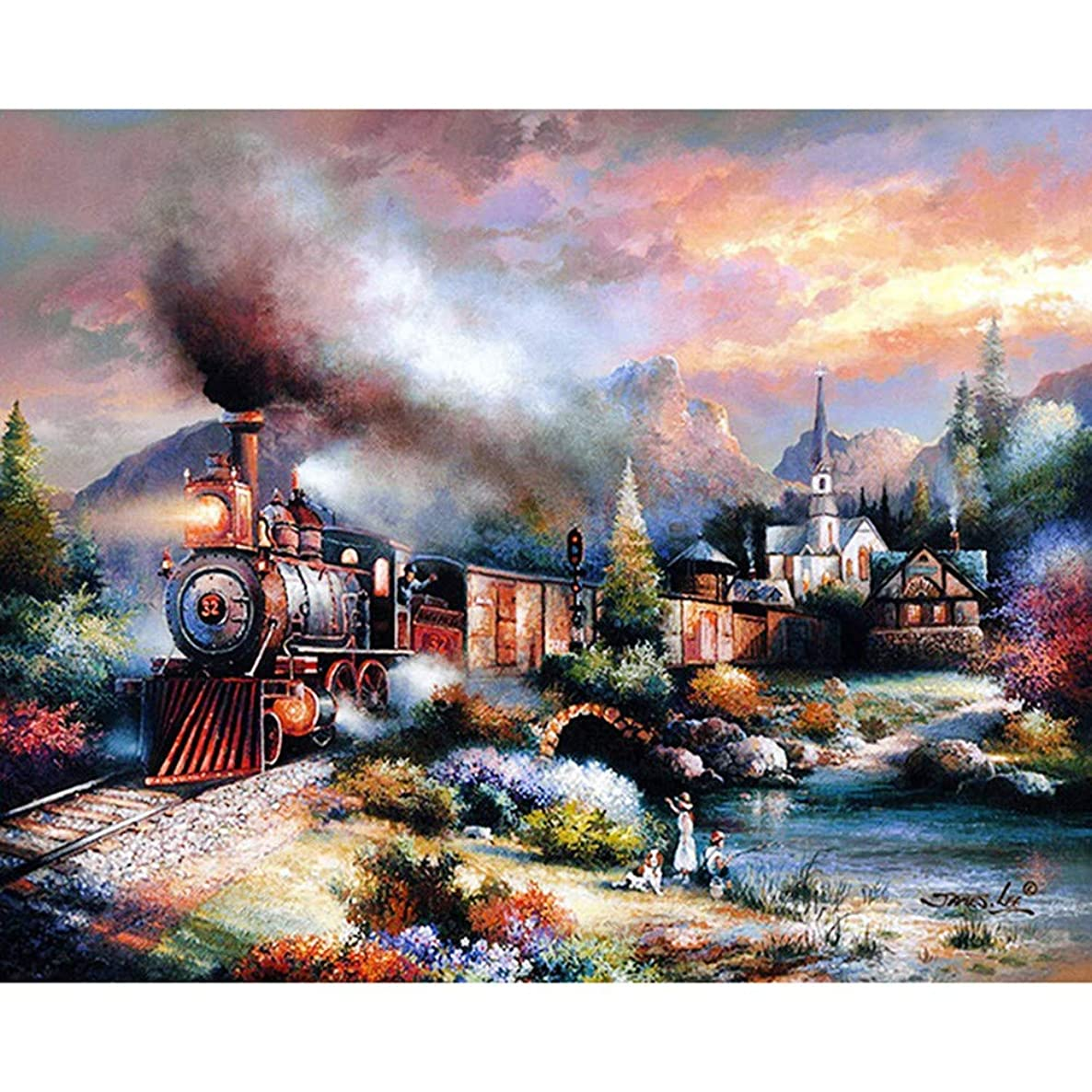 HYDWX Paint by Numbers for Senior Junior Beginner Level Painting by Numbers Set Train with Brushes Paints and Canvas Home Decor 16X20 Inch