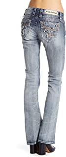 Betty B19 Bootcut Jeans Faded Stretch Flap Pocket