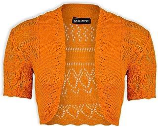 281cb4fa26a219 RM Fashions Girls Crochet Bolero Shrug Kids Knitted Short Sleeve Cardigan  New Age 2-13