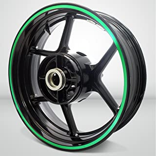 Thick Outer Rim Liner Stripe for Suzuki SV650 Reflective Green