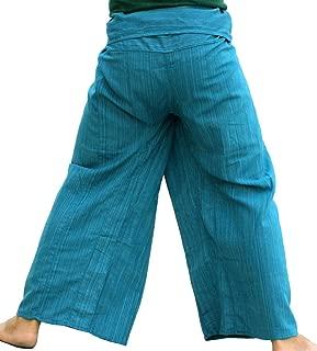Brand Light Striped Cotton Tall Thai Fisherman Wrap Pants