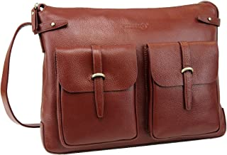 Brown AO756-2840 LB1 High Performance Leather Unisex Business Messenger Bag Briefcase Bag for Acer 11.6 Aspire One Laptop 2GB 320GB