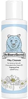 Limpiador cremoso natural BeBarefaced – Limpiador facial vegano suave y libre de fragancias para piel sensible – Manzanill...