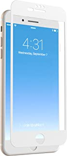 ZAGG InvisibleShield Glass + Luxe Screen Protector for Apple iPhone 8 Plus, iPhone 7 Plus, iPhone 6s Plus, iPhone 6 Plus – White