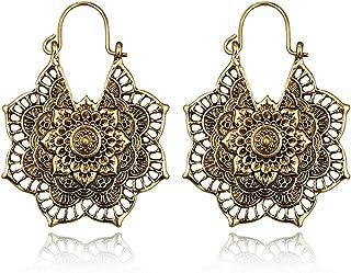 Gold Boho Tassel Earrings Buddha Beaded Earrings Black and Gold Earrings Soulful Spirit Jewelry Bohemian Tassel Earrings