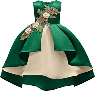 2-9 Years Flower Girls Dress Wedding Bridesmaid Formal Midi Dresses