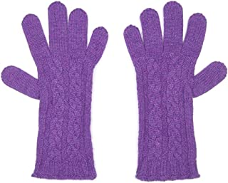 Pure Cashmere Ladies Cable Gloves