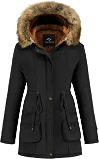 Women's Winter Coat Hooded Warm Puffer Quilted Thicken...