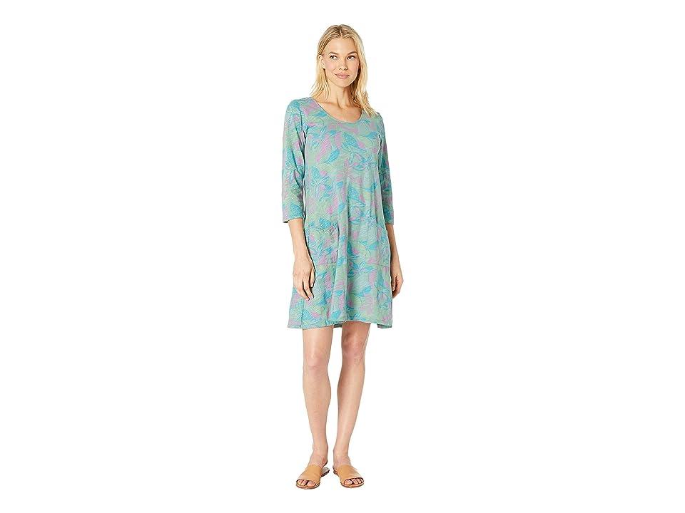 Fresh Produce Beachside Blooms Dalia Dress (Lagoon Green) Women