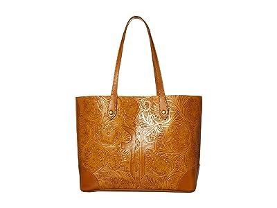 Frye Melissa Artisan Shopper (Cognac) Handbags