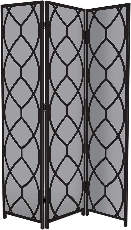 Nexxt Bota Triple-Panel Floor Screen, 47.5 by 71 by 1-Inch, Petals
