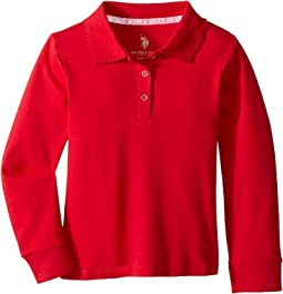 Long Sleeve Polo (Little Kids)