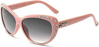 Giselle Cute Kids Retro Cat Eye Rhinestone Sunglasses for Teen Girls and Children Age 6-14