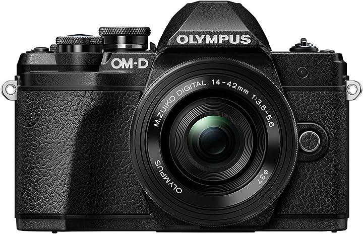 Fotocamera di sistema micro 4/3, 16 mp, stabilizzatore d`immagine a 5 assi,  olympus om-d e-m10 mark iii kit