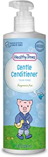 Healthy Times Gentle Baby Conditioner, Fragrance Free | Hypoallergenic Formula, Tear Free, Dermatologist Tested | 8 fl. oz. Bottle, 1 Count