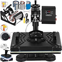 VEVOR Power Heat Press 8 in 1 Industrial-Quality 12-by-15-Inch Multifunctional Sublimation T-Shirt Hat Mug Heat Press Machine (8 in 1: 12