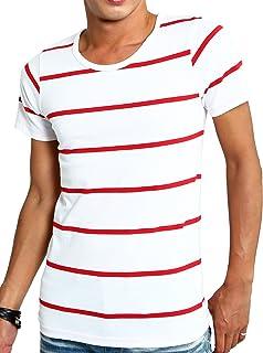 インプローブス Vネック&Uネック Tシャツ 全20パターン 半袖 ボーダー カットソー メンズ