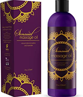 Sensual Massage Oil with Relaxing Lavender Almond Oil and Jojoba for Men and Women – 100% Natural Hypoallergenic Skin Therapy with No Artificial or Added Ingredients - USA Made by Honeydew
