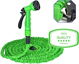 100 FT Garden Water Hose Green Latex Expanding Axpandable Spray Nozzle Mangueras De Agua