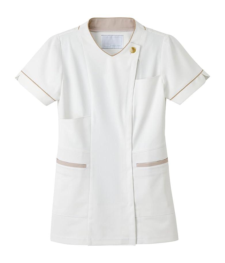 その結果満了保証金医療用ユニフォーム ナガイレーベン 女子チュニック オフホワイト LH-6272(LL)