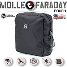 Mission Darkness MOLLE Faraday Pouch. Military-Grade Bag Attaches to Any MOLLE Webbing System. RF Signal Blocking + Anti-H...