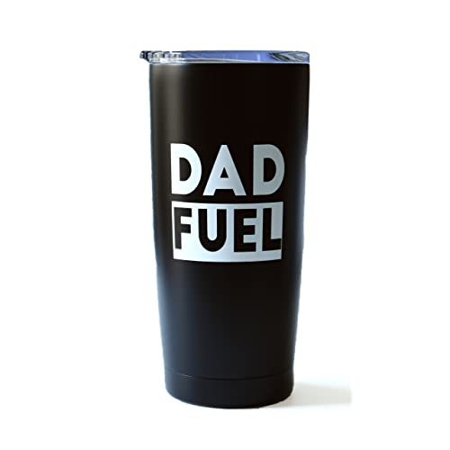 ce4f3e47 Dad Fuel - 20 oz Stainless Steel Insulated Double Wall Tumbler with Lid  (Black and
