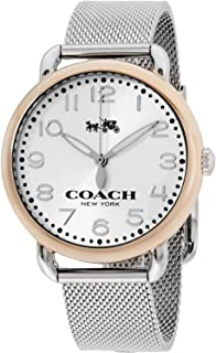Coach Women's 14502266 Delancey Stainless Mesh Bracelet Rose Gold Tone Watch