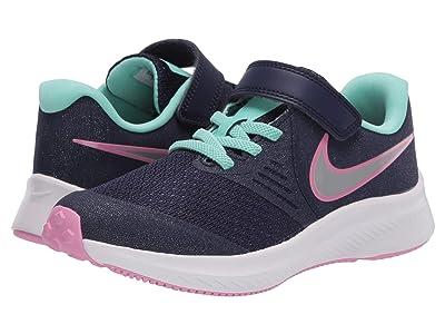 Nike Kids Star Runner 2 (Little Kid) (Imperial Purple/Metallic Silver) Kids Shoes