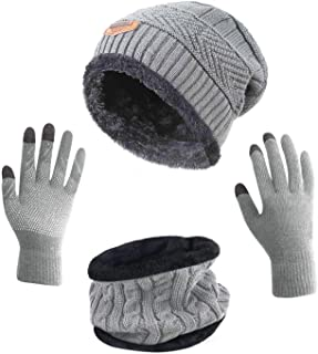 Winter Slouchy Beanie Gloves for Women Knit Hats Skull...