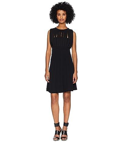 The Kooples Knitted Stripe Dress (Black) Women