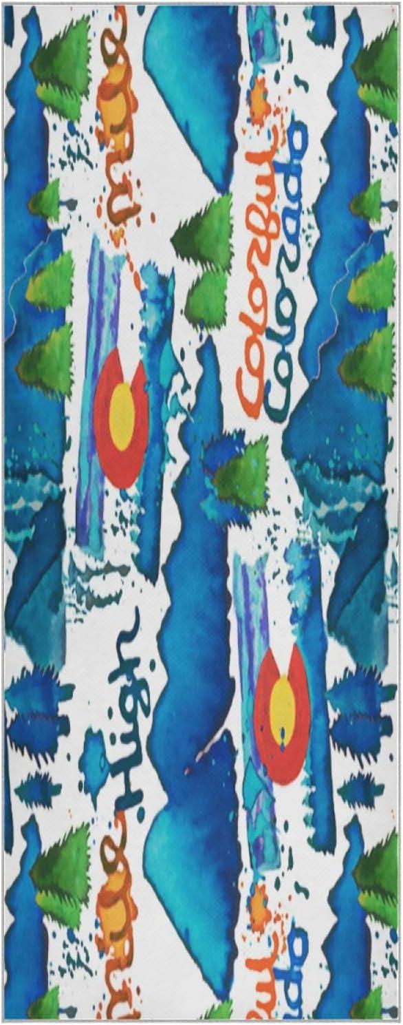 73 Inch Yoga mart Mat Towel Colorado Non Slip Sun San Diego Mall and Splash Foldable