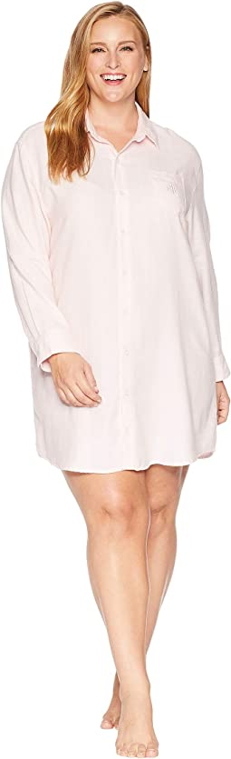 Plus Size Woven His Shirt Sleepshirt