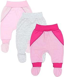 Pantalón con Pies de Bebé para Niña, Pack de 3