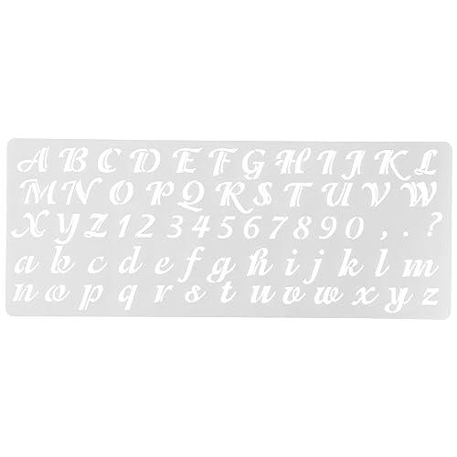 Cursive Letter Stencils: Amazon com
