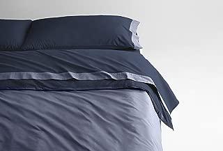 Casper Sleep Soft and Durable Supima Cotton Sheet Set, Full, Navy/Azure