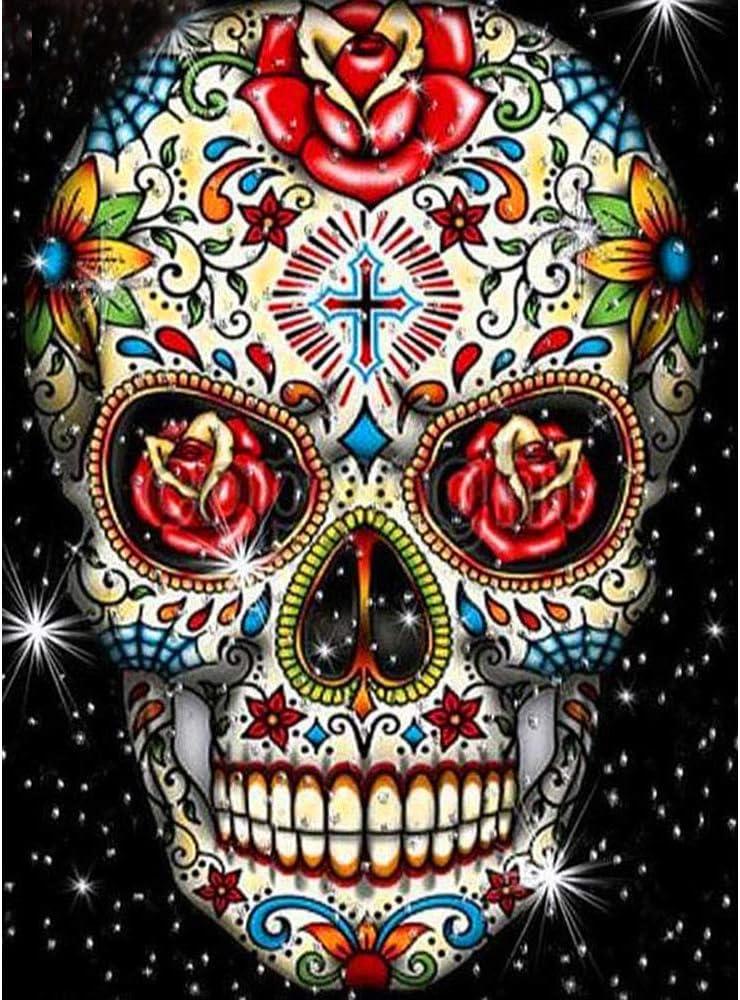 YCZO Max 52% OFF Halloween Diamond Painting New life Embroidery Paintin Skull