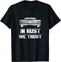 Mens In Rust We Trust Hot Rod T-shirt