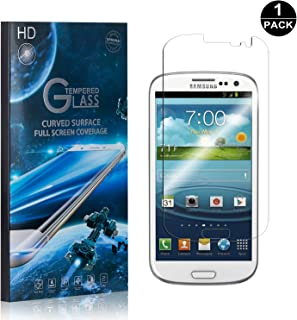 Galaxy S3 Screen Protector Tempered Glass, Bear Village® Perfect Fit & Anti Fingerprint HD Screen Protector Film for Samsung Galaxy S3-1 Pack