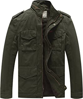 Men's Cotton Military Casual Stand Collar Windbreaker Field Jacket