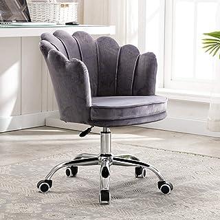 Sillas de escritorio de oficina Silla de escritorio giratoria de oficina de terciopelo, silla de escritorio ergonómica giratoria de 360 grados Silla de computadora de ocio moderna ajustable para sal