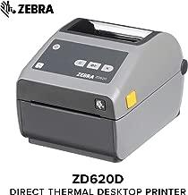 Zebra - ZD620d Direct Thermal Desktop Printer for Labels and Barcodes - Print Width 4 in - 203 dpi - Interface: Ethernet, Serial, USB - ZD62042-D01F00EZ