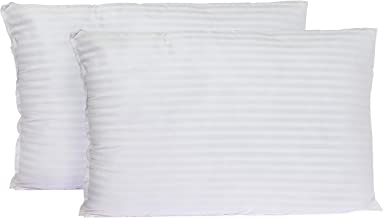 Soft Stripe Hotel Pillow 1 Kg Pack Of 2 Pieces Size 50 X 75 cm, P-4-2 By Home Station, Polyester